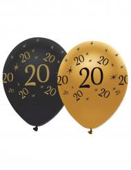 Sort og guldfarvet balloner 20 år