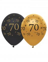 Balloner 6 stk. latex 70 år