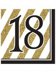 18 års fødselsdagsservietter