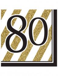 80 års fødselsdagsservietter