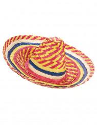 Mexicansk sombrero I gul og rød til voksne