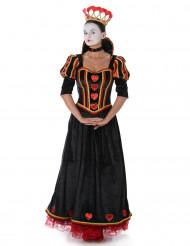 Sort hjerterdame kostume til kvinder