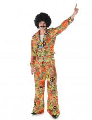 Peace hippiekostume til mænd
