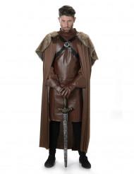 Brun middelalderridderkostume voksen