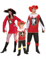 Familiekostume musketer familie