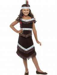 Brunt indianerkostume pige