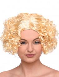 Paryk blond kort krøllet til kvinder