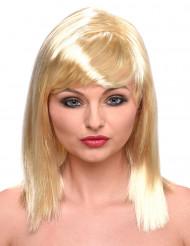 Paryk Blondine med pandehår