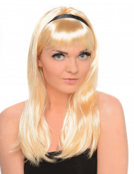 Paryk Blondine med hårbånd