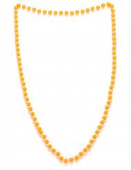 Halskæde med orange perler til voksne