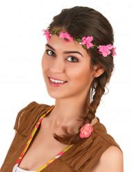 Kronen med lyserøde roser til voksne