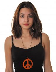 Orange hippiehalskæde til voksne