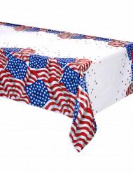 Plastikdug med det amerikanske flag 137 x 213 cm