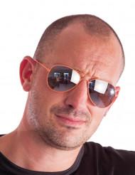 Pilotbriller neon orange til voksne