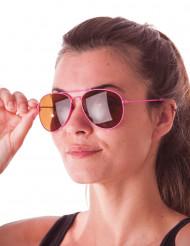 Pilotbriller neon pink til voksne