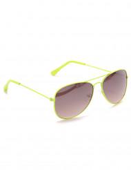 Pilotbriller neon gul til voksne