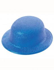 Hat bowler med pailletter blå til voksne