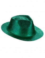 Grøn hat med pailletter til voksne