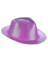 Hat pailletter violet til voksne