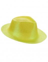 Gul hat dækket med pailletter til voksne