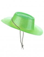 Cowgirl hat i grøn med pailetter til voksne