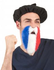 Skæg supporter trefarvet Frankrig til voksne