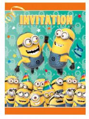 8 invitationskort Minions™