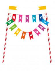 Kagedekoration Happy Birthday