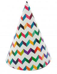 Hatte 6 stk. trendy multifarvet