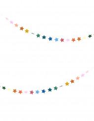 Guirlande små multifarvet stjerner 3 m