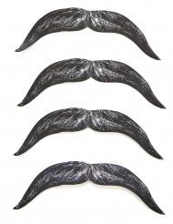 4 overskæg i pap til børn