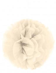 Pompon i cremefarvet papir 35 cm