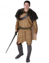 Vikingekostume i brunt Mand