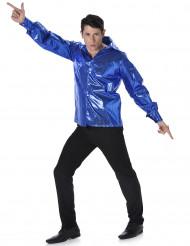 Diskoskjorte med pailletter Blå