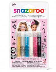 6 Sminkestifter med guld og sølv - Snazaroo™