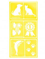 6 Falske tatoveringer med dyr - Snazaroo™