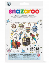 20 Midlertidige pirattatoveringer - Snazaroo™