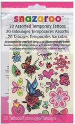 20 Midlertidige tatoveringer med blomster og sommerfugle - Snazaroo™