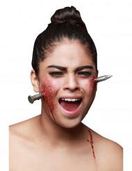 Falsk søm gennem hovedet - Halloween sminke