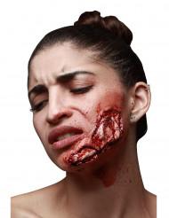 Falsk sår til hagen - Halloween sminke til voksne