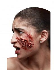 Falsk sår med orme - Halloween sminke
