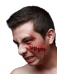 Falsk sår med syninger - Halloween