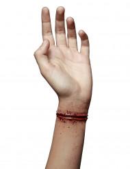 Falsk sår overskåret håndled til voksne Halloween