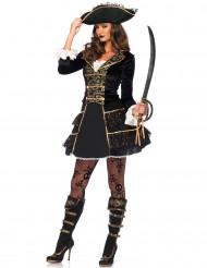 Piratkaptajnskostume kvinde
