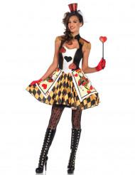 Kortspil hjerter kostume voksen