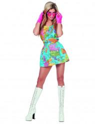 Verdenskort kjole til voksne