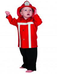 Rødt brandmandskostume baby
