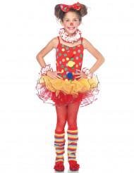 Udklædning farverig klovn pige