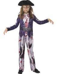 Kostume zombie pirat til piger Halloween