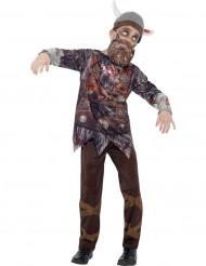 Zombie vikingedragt til børn Halloween